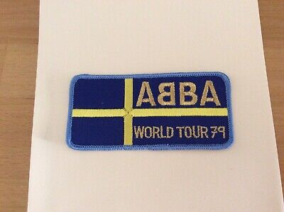 Abba World Tour 79 Patch. New.Vintage. Private Collection. Unused. • 20£
