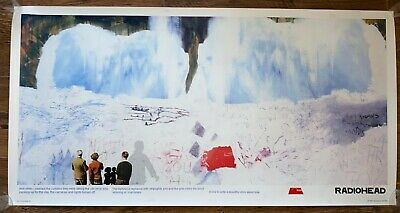 Radiohead Kid A - Promo Snowscape Poster - Stanley Donwood Art Print 2000 • 34£