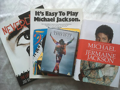 Michael Jackson Collectables Bundle Song Book DVD Neverland Book & Michael Book • 4.99£