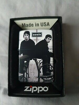 Oasis Liam And Noel Gallagher Zippo Cigarette Lighter • 75£
