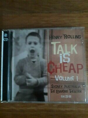Henry Rollins -Talk Is Cheap Volume 1, Sydney Australia,The Enmore Theater 2xCD. • 4.65£
