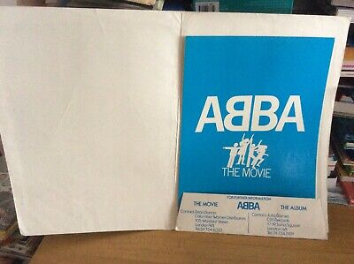 Abba.The Movie.Premier Information Folder.Vintage.Private Collection • 100£