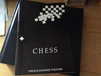 Abba.Chess Programme From Opening Night.UK.Vintage.Private Collection.1986. • 45£