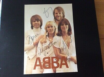 Abba.Fan Club Printed Signed Photocard.Original.Private Collection. • 20£