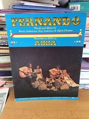 Abba.Fernando.Sheet Music.Vintage.Private Collection. • 35£