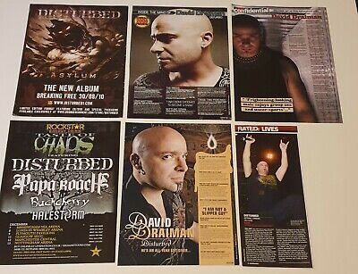 Disturbed Collection - Tours/Adverts/Posters/Gig/Album Reviews.   • 9.99£
