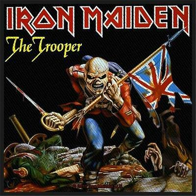 Official Licensed - Iron Maiden - The Trooper Sew On Patch Metal Eddie • 4£