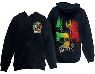 Official Licensed - Bob Marley - Lion Hooded Sweatshirt Hoodie Reggae Import • 43.99£