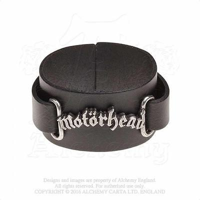 Alchemy Rocks - Motorhead - Logo Leather Wriststrap Metal Lemmy • 24.99£