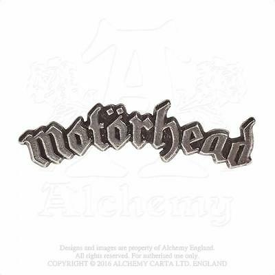 Alchemy Rocks - Motorhead - Logo Pewter Pin Badge Metal Lemmy • 10.99£