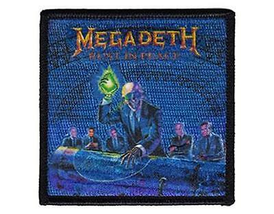 Official Licensed - Megadeth - Rust In Peace Alien Embroidered Woven Patch Metal • 6.75£