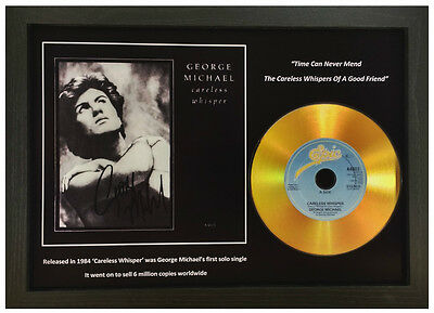 George Michael 'careless Whisper' Signed Gold Disc Collectable Memorabilia Gift • 14.99£