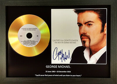 George Michael 'ladies And Gentlemen' Signed Gold Disc Collectable Memorabilia • 14.99£