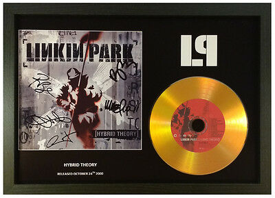 Linkin Park 'hybrid Theory' Signed Gold Cd Disc Collectable Memorabilia Gift • 14.99£