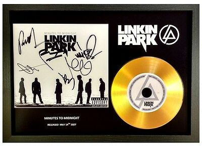 Linkin Park - Minutes To Midnight - Signed Gold Cd Disc Collectable Memorabilia • 14.99£