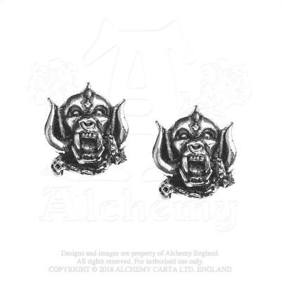 Alchemy Rocks - Motorhead - Warpig Pewter Stud Earrings Metal Lemmy • 13.99£