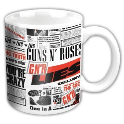 Guns N' Roses -   Lies  - High Quality White Boxed Ceramic Mug • 7.99£