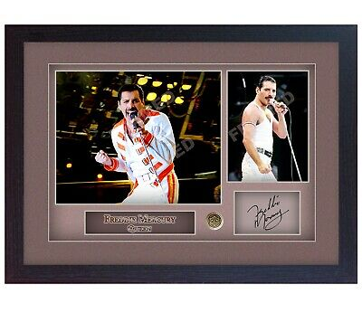 Freddie Mercury Queen Signed Autograph Music Photo FRAMED Print  • 16.99£