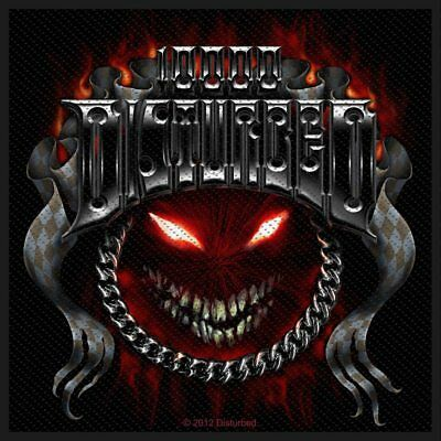 Disturbed -  Chrome Smiley  - Woven Sew On Packed Patch • 3.69£