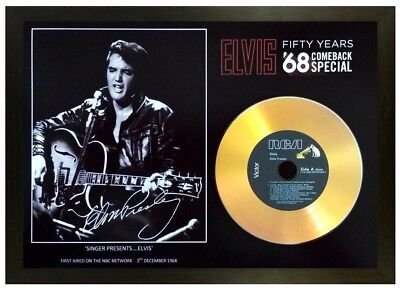 Elvis Presley '68 Comeback Special' 50th Anniversary Signed Photograph Gift • 14.99£
