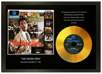 Cliff Richard 'the Young Ones' Signed Gold Disc Collectable Memorabilia Gift  • 14.99£