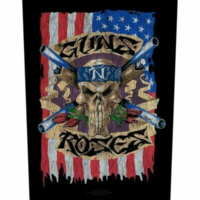 Guns And Roses -  Flag  - Large Size - Sew On Back Patch • 6.99£