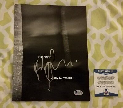 Andy Summers Of The Police Signed Photography Book Ekphrasis Beckett/BAS #E21368 • 92.98£