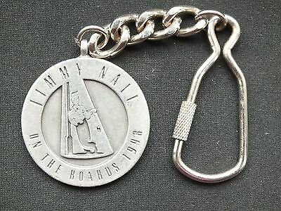 Jimmy Nail On The Boards Tour Key Ring 1998 Made By Bulldog Buckle Co. • 12£