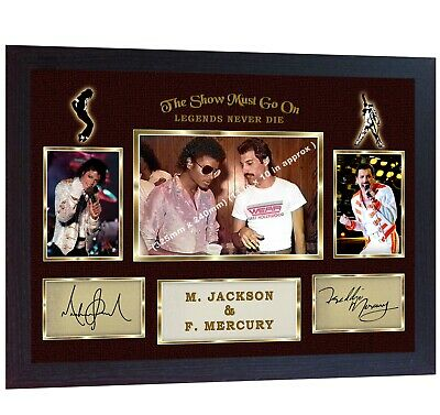 Freddie Mercury Queen Michael Jackson Signed Photo Autograph Music Framed • 17.99£
