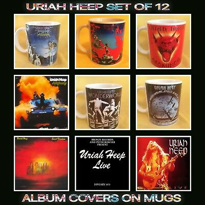Uriah Heep 12 Album Covers On Mug • 58£