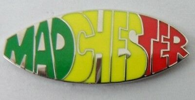 Madchester Enamel Badge.Stone Roses,Happy Mondays,Inspiral Carpets,Ian Brown. • 3.99£