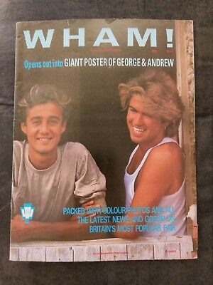 WHAM George Michael Special Edition Fold Out Poster Mag No. 4 • 12.99£