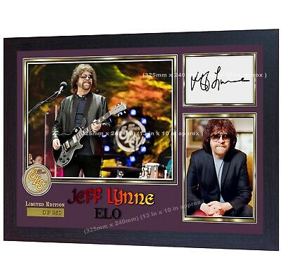 Jeff Lynne ELO Music Signed Autographed Photo Print Framed • 17.99£