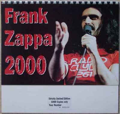 FRANK ZAPPA 2000 Calender ELECTRONIC Avantgarde Experimental NEW/SEALED Numbered • 9.99£