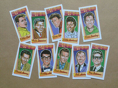 Rock 'n' Roll Greats. A Set Of 10 Collectable Cards • 4.99£