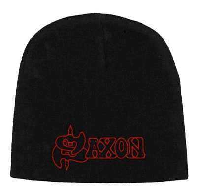 Saxon -  Red Logo  - Beanie Hat - Official Product - U.k. Seller • 14.99£
