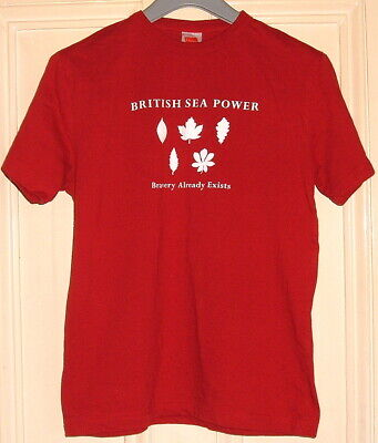British Sea Power 'bravery Already Exists' 2003 Mens T Shirt Medium Red Ex • 47.99£