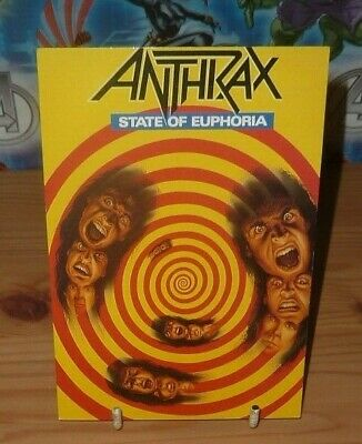 ANTHRAX State Of Euphoria Official Postcard (1988) • 2.49£