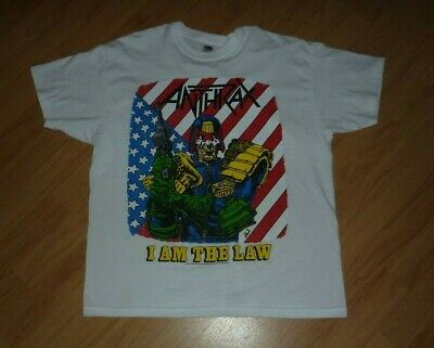 ANTHRAX I Am The Law Official 2013 T Shirt, Size Large • 12.99£
