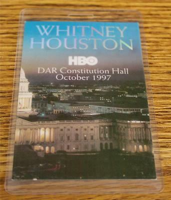 Whitney Houston 1987 PERRI Laminated Backstage Pass HBO DAR Constitution Hall • 19.81£