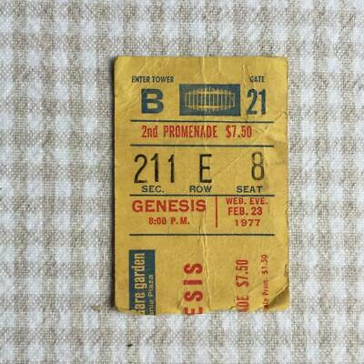 Genesis Ticket Madison Square Gardens 23/02/77 Wind & Wuthering Tour # E8 • 20£