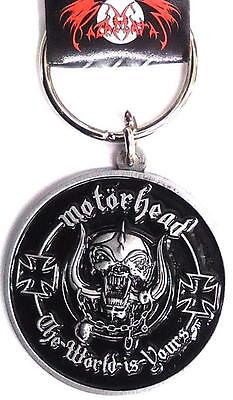 Official Licensed - Motorhead - The World Is Yours Keychain Metal Keyring Lemmy • 9.99£