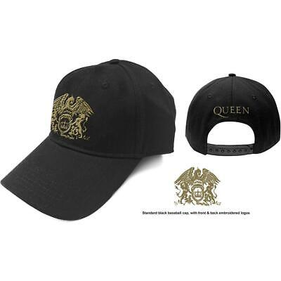 Official Licensed - Queen - Classic Gold Crest Baseball Cap Rock Freddie Mercury • 17.99£