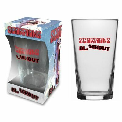 Scorpions -  Blackout  - Beer Glass - Official Product - U.k. Seller • 10.99£