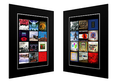 2 Mounted / Framed Prints Of The Complete Discography Of Rush  Poster Art Gift • 67.07£