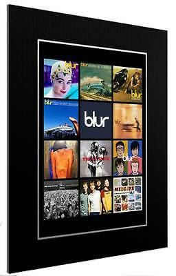 Mounted / Framed Print Blur Discography - Different Sizes Indie  Poster Gift Art • 33.39£