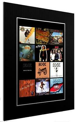 Mounted / Framed Print Acdc 12 Album Discography - Different Sizes Gift Artwork • 45.44£