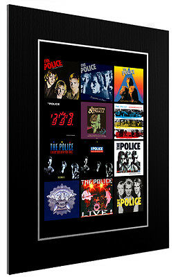 Mounted / Framed Print The Police Discography  3 Sizes Poster Gift Artwork • 34.38£