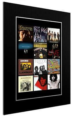 Mounted / Framed Print The Doors 12 Album Discography 3 Sizes Poster Gift Art • 45.44£