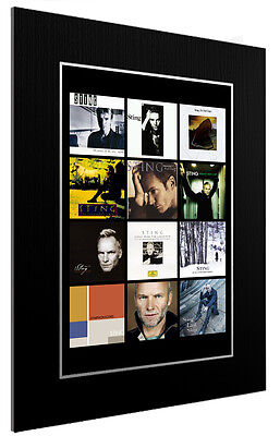 Mounted / Framed Print Sting  Discography -  3 Sizes Poster Gift Artwork • 33.38£